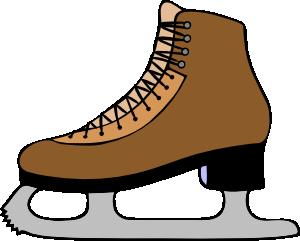 300x241 Ice Skate Shoe Clip Art