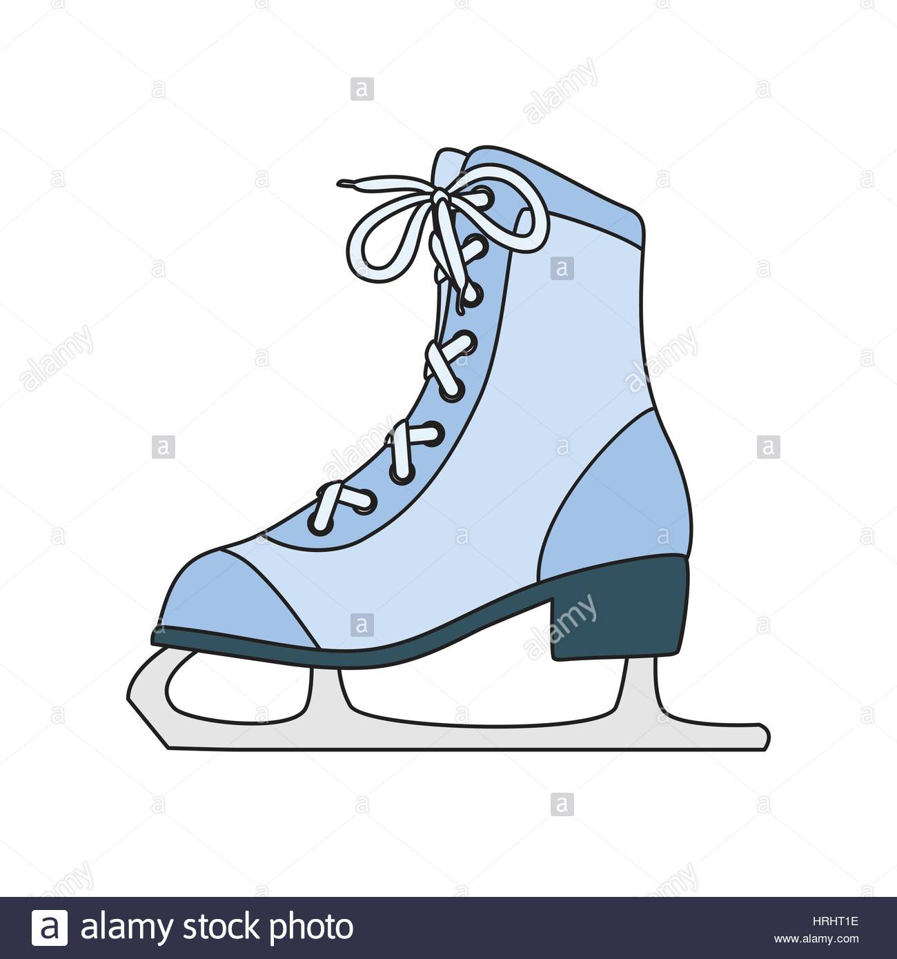 1300x1390 Ice Skates Line Art Drawing On White Background Stock Vector Art