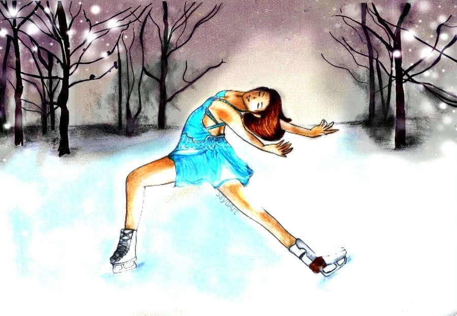 900x622 Ice Skating By Sayoart