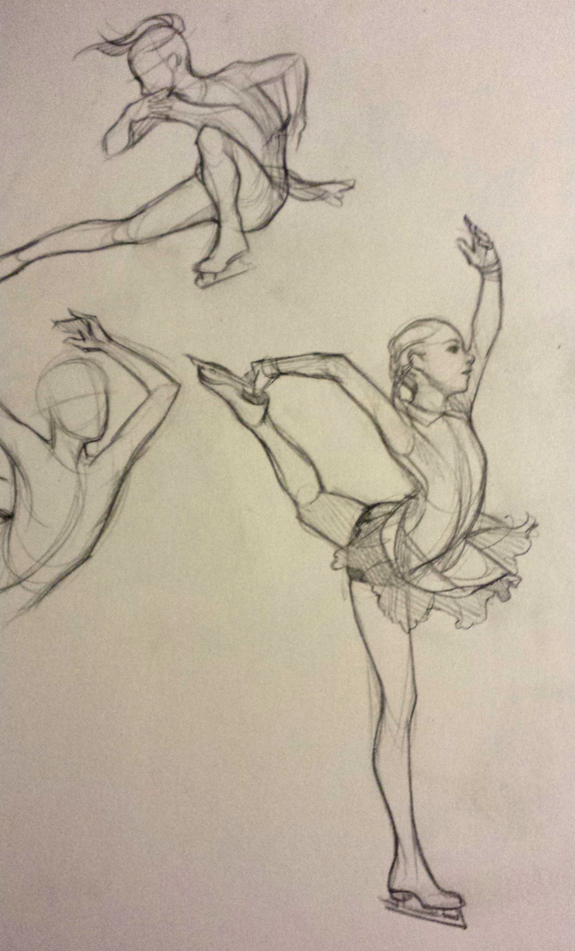 1162x1920 Figure Skater Sketch (Yulia Lipnitskaya) Drawing