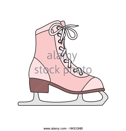 520x540 Ice Skate Boot Icon Cartoon Stock Photos Amp Ice Skate Boot Icon