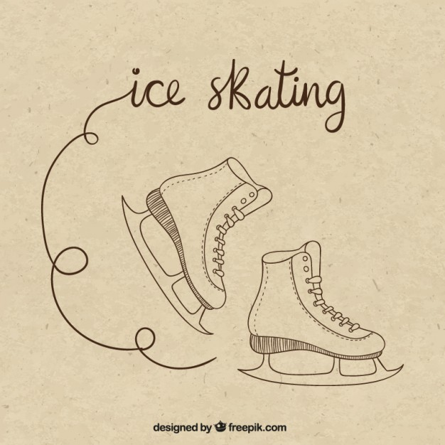 626x626 Ice Skating Drawing Vector Premium Download