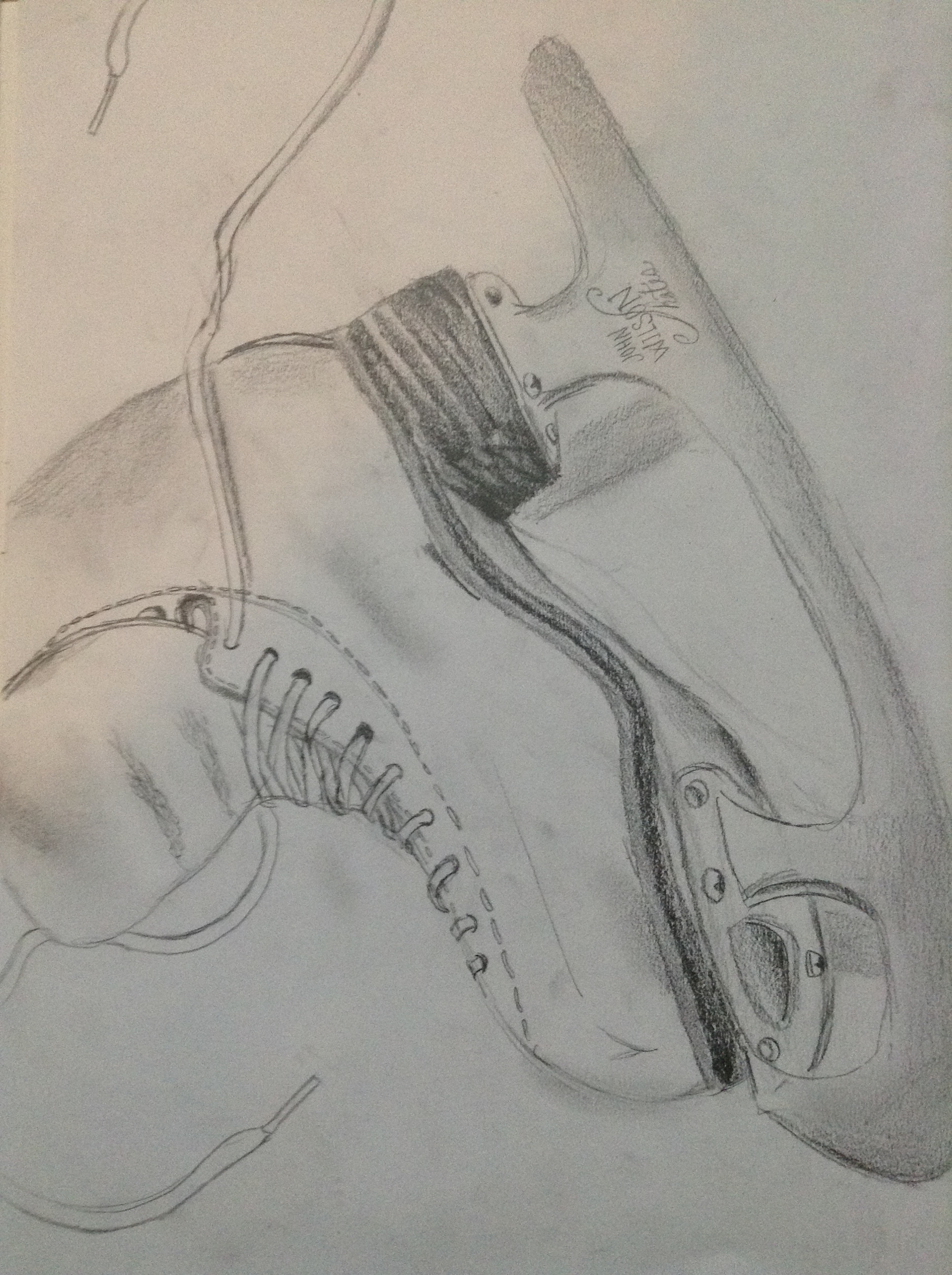1936x2592 Pencil Ice Skate Drawing Just Sketching
