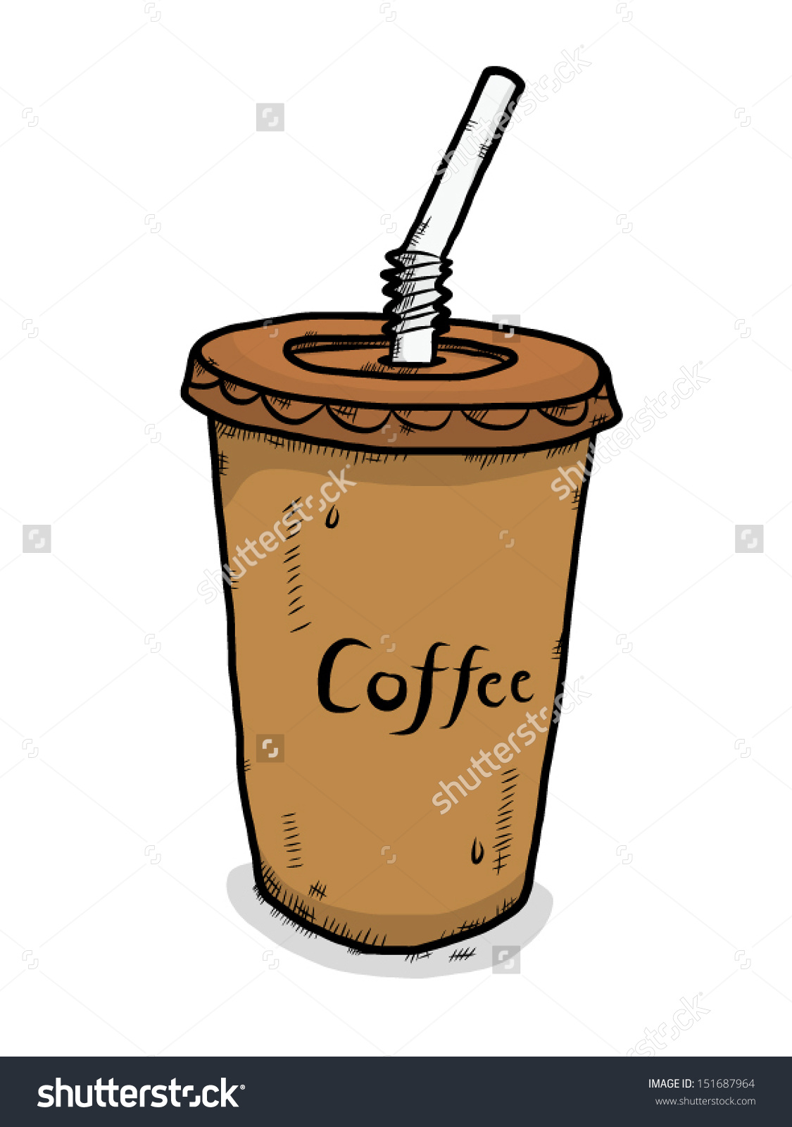 Iced Coffee 1125x1600 Cartoon Cup Cartoons Plastic Cups