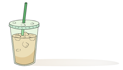 Iced Coffee Drawing At GetDrawings