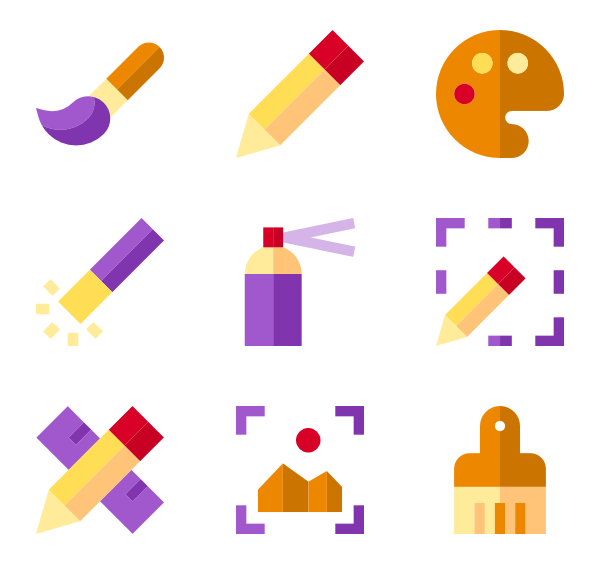 600x564 Drawing Icons