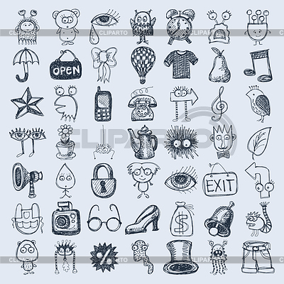 400x400 Doodle Icons Sketches Serie Of High Quality Graphics Cliparto