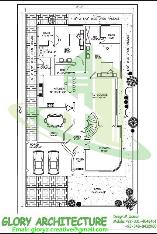 516x768 Drawings Map Naksha 3d Design House Elevation Plan E 17islamabad