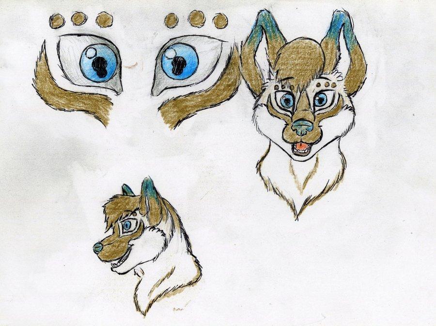 900x672 Fursona Fursuit Head Idea Drawing By Benrusk