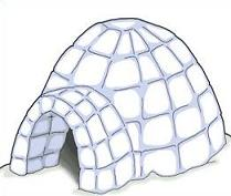 how to draw a 3d igloo