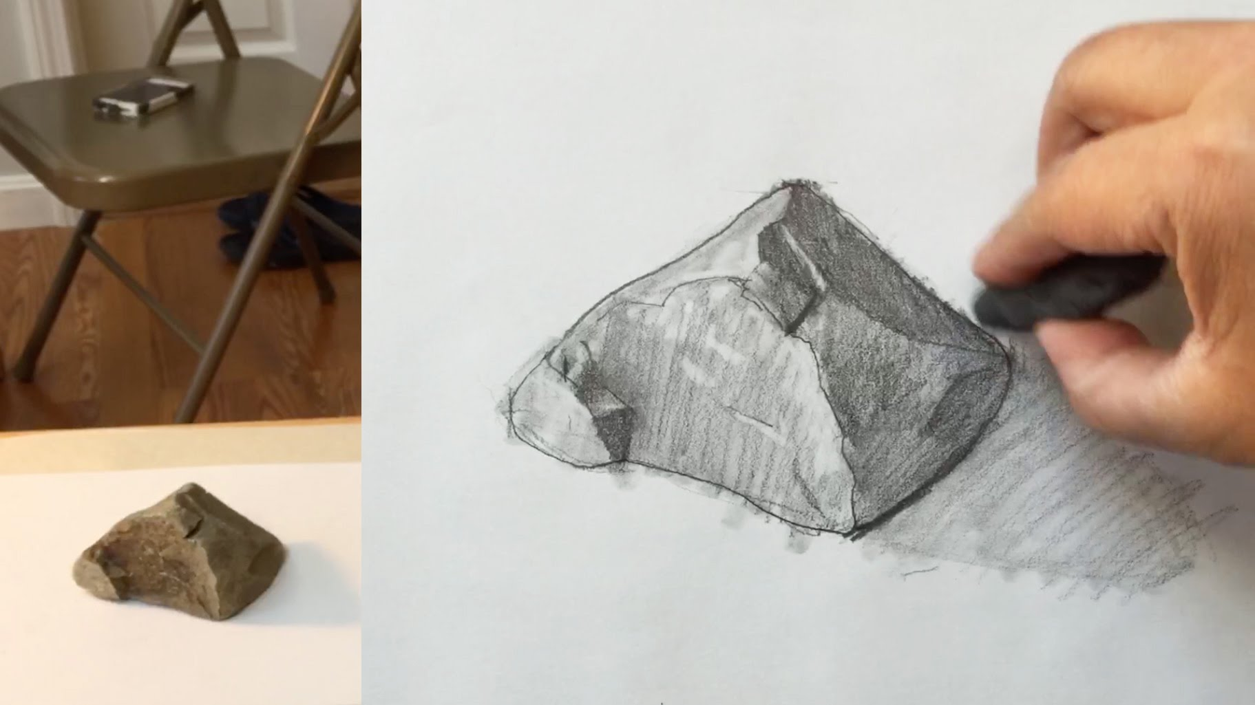 1823x1025 How To Draw A Rock With Pencil,