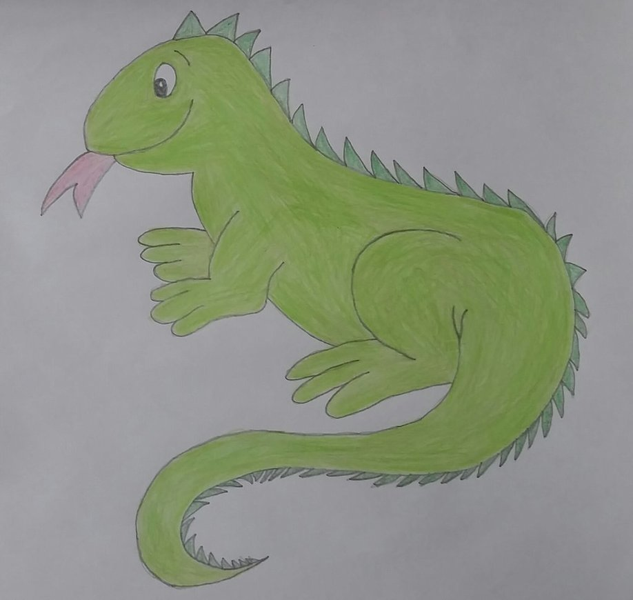918x870 Drawing Of Iguana By Jcpag2010