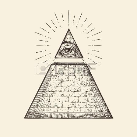 450x450 All Seeing Eye Icons Set. Illuminati Symbol Isolated On White