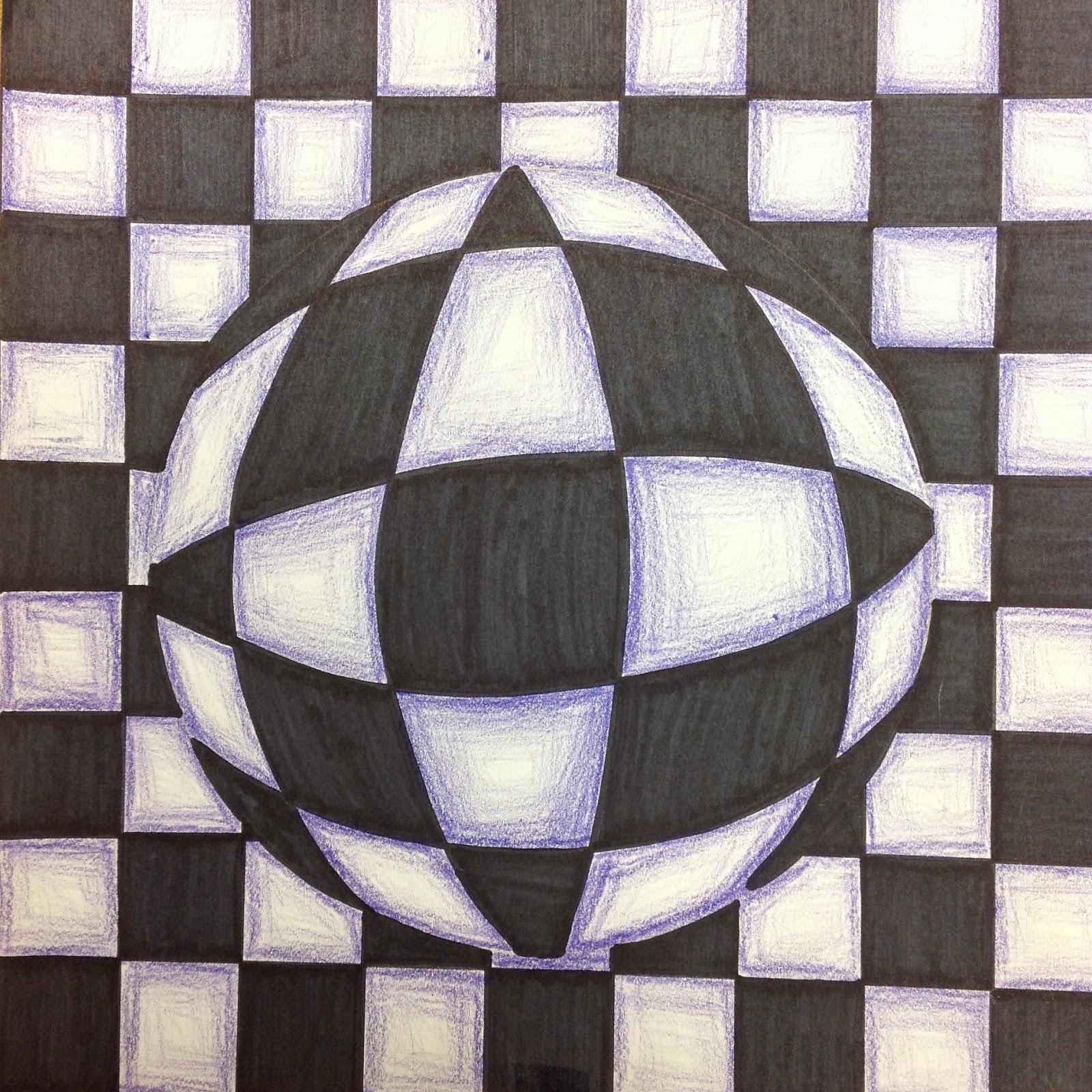1600x1600 5th Grade Optical Illusion Art Drawing Lesson Art