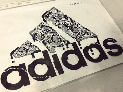 400x300 Adidas Illustration Drawing By Daniel Fass