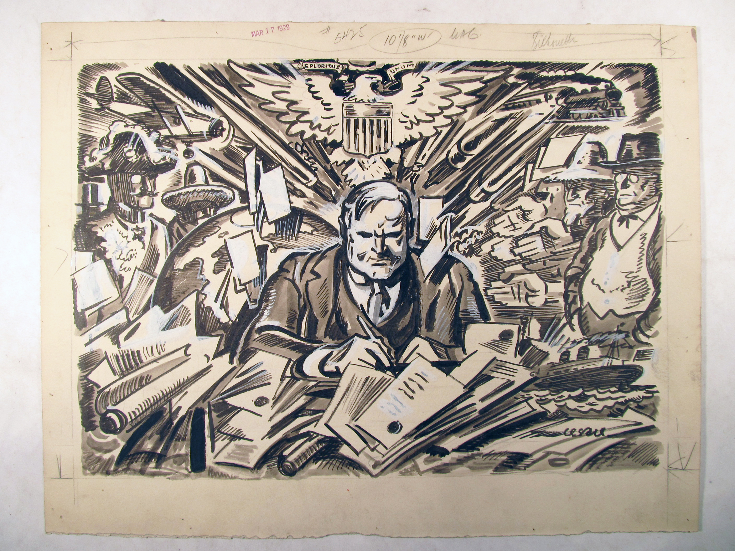 2347x1760 Fileherbert Hoover As The New President.illustration From March