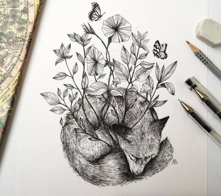 900x798 Poetic Surreal Black Ink Pen Illustrations Pen Illustration