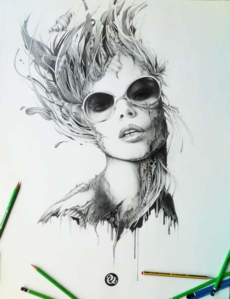 462x601 45 Surreal Pencil Drawings And Illustrations