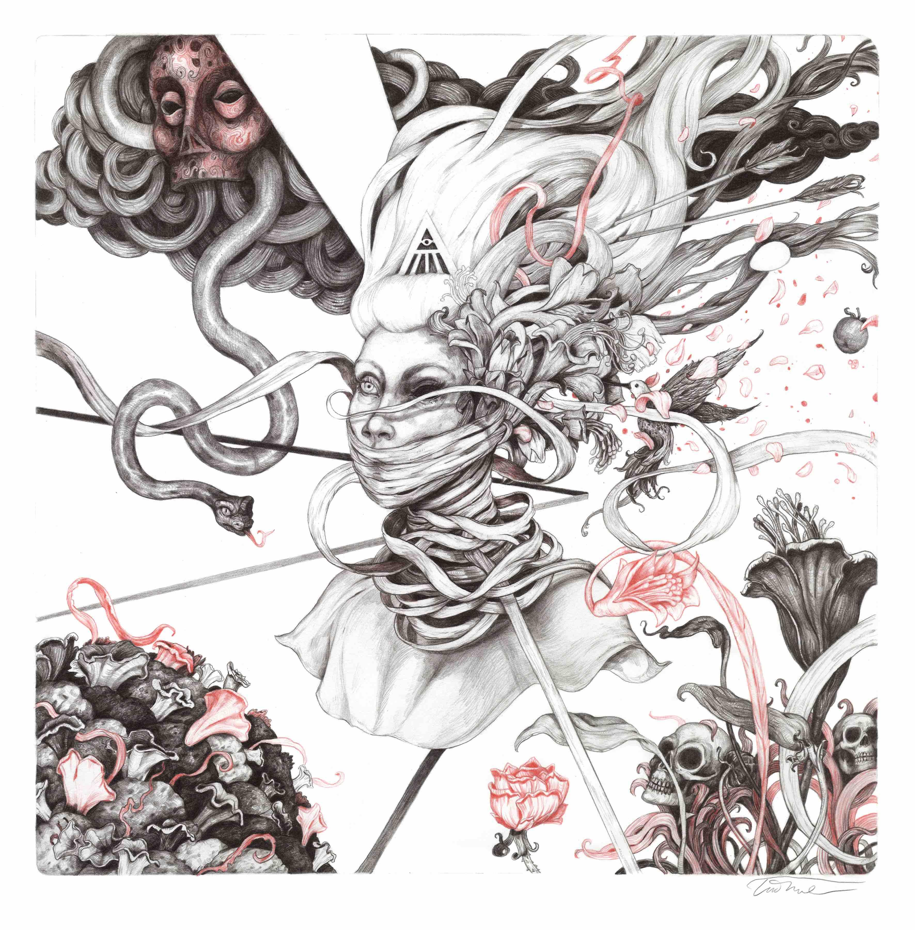 3543x3600 Illustrator Tim Lane On Philosophy, Death