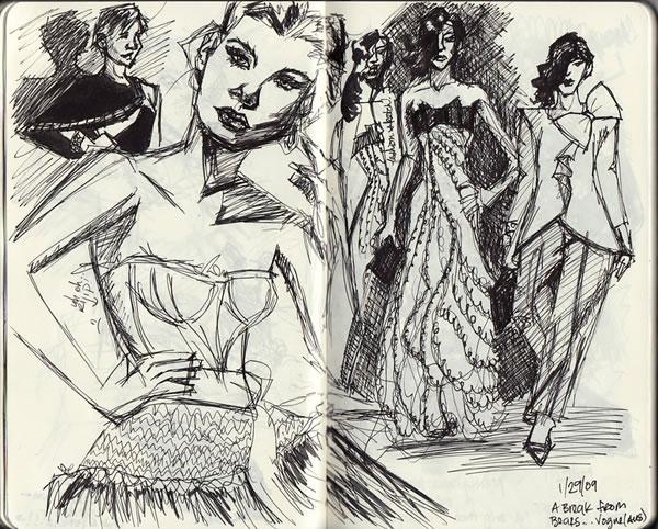 600x482 Inspiring Fashion Sketches Amp Illustrations