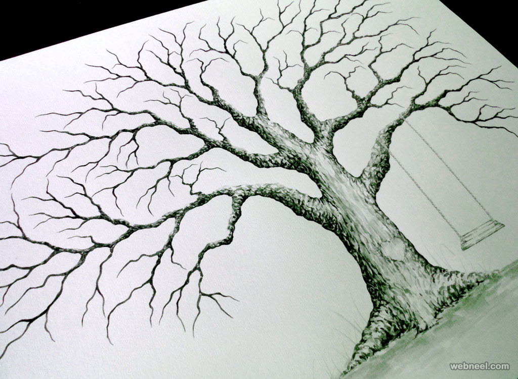 1024x751 30 Beautiful Tree Drawings And Creative Art Ideas From Top Artists