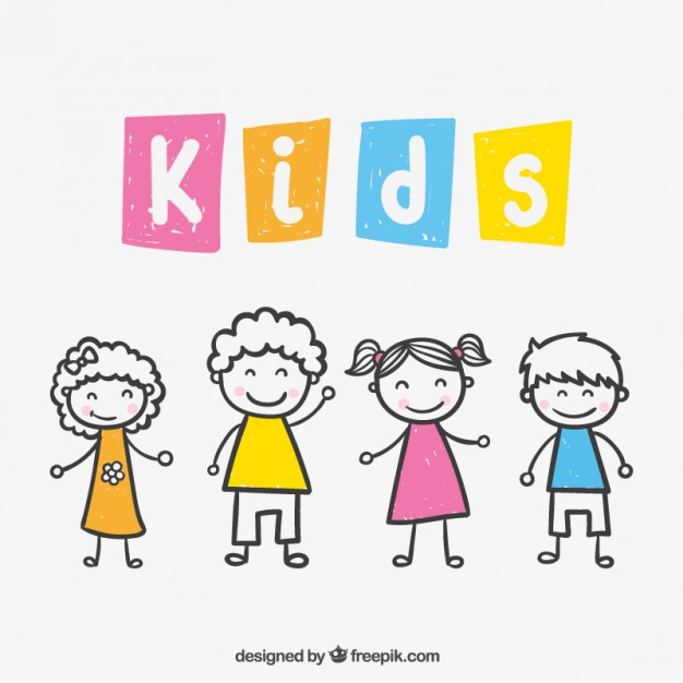 626x626 Kids Drawing Vector Free Download