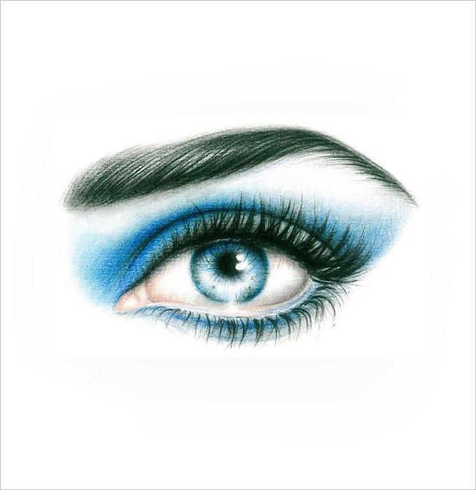 680x700 Eye Drawings