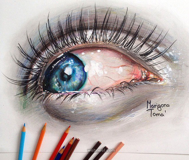 660x562 60 Beautiful And Realistic Pencil Drawings Of Eyes