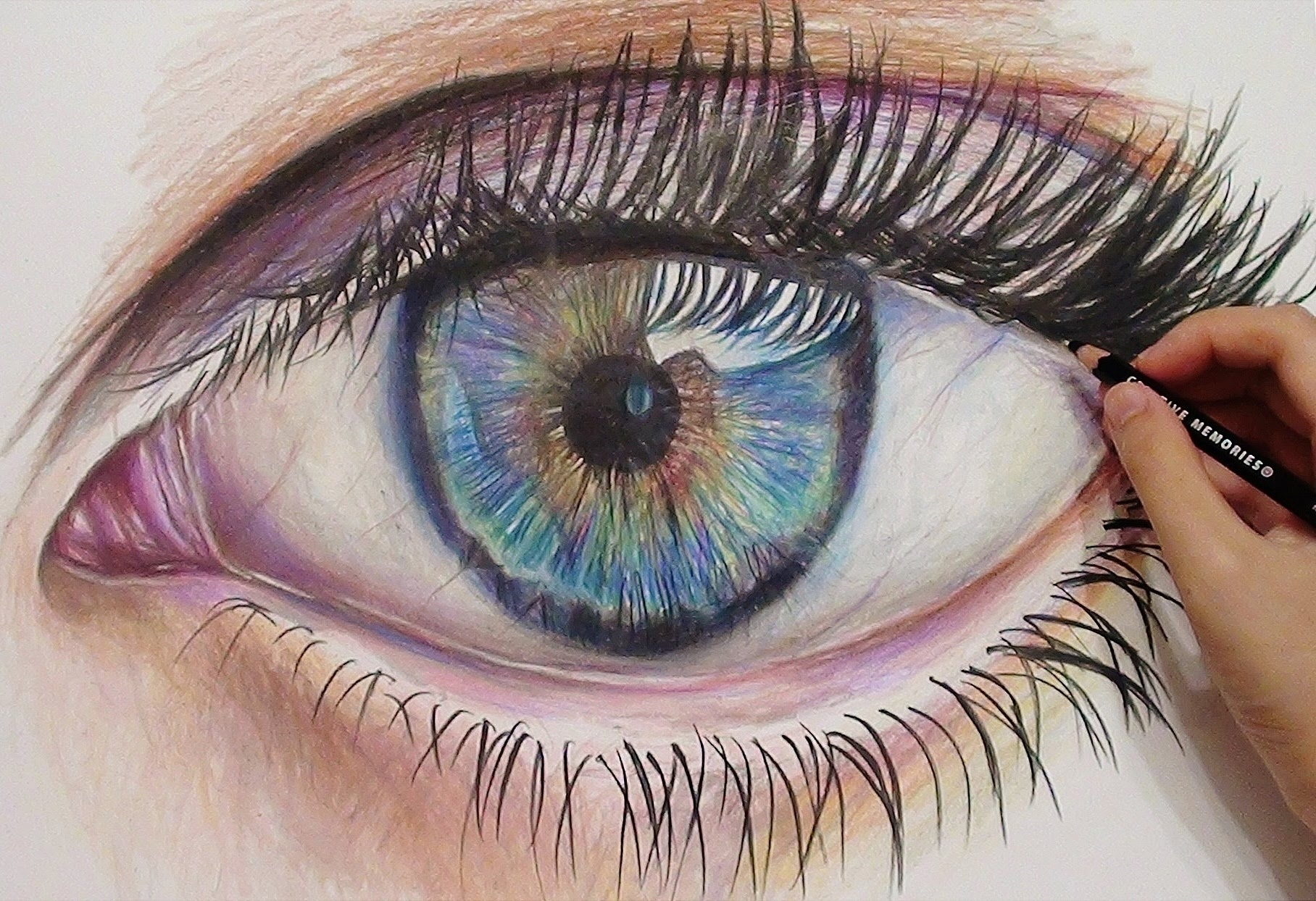 1816x1244 Drawing A Realistic Eye With Colored Pencils