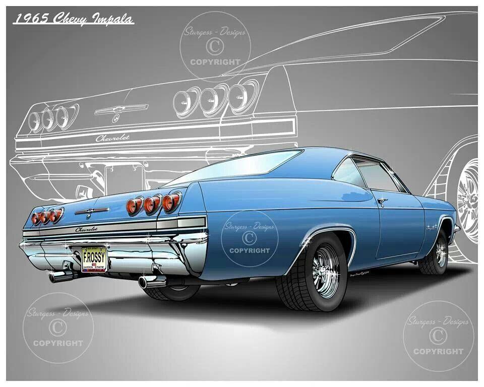 960x768 1965 Impala Car Drawings Car Drawings And Cars