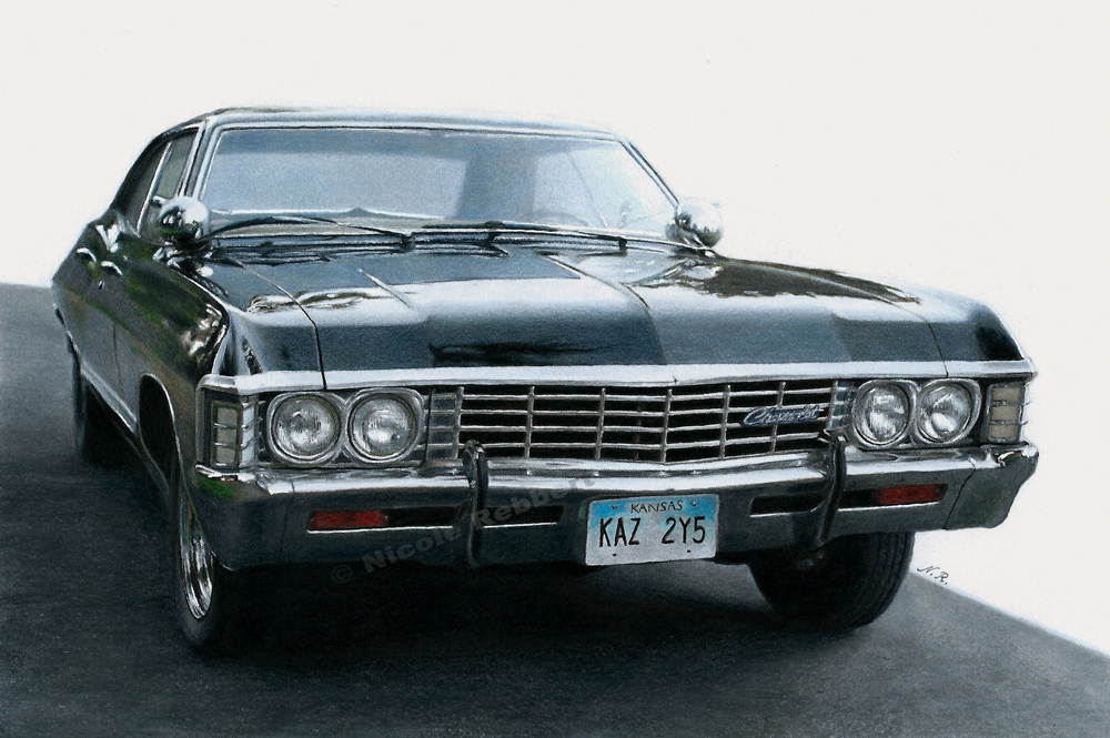 1000x665 1967 Chevrolet Impala (Drawing) By Quelchii
