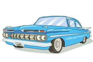300x200 How To Draw A Chevrolet Impala