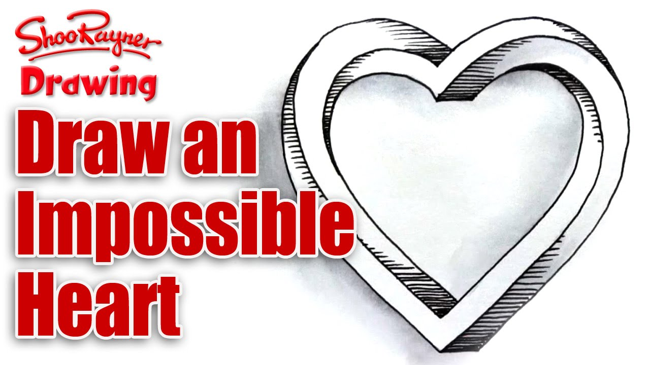 1280x720 How To Draw An Impossible Heart For Valentine's Day