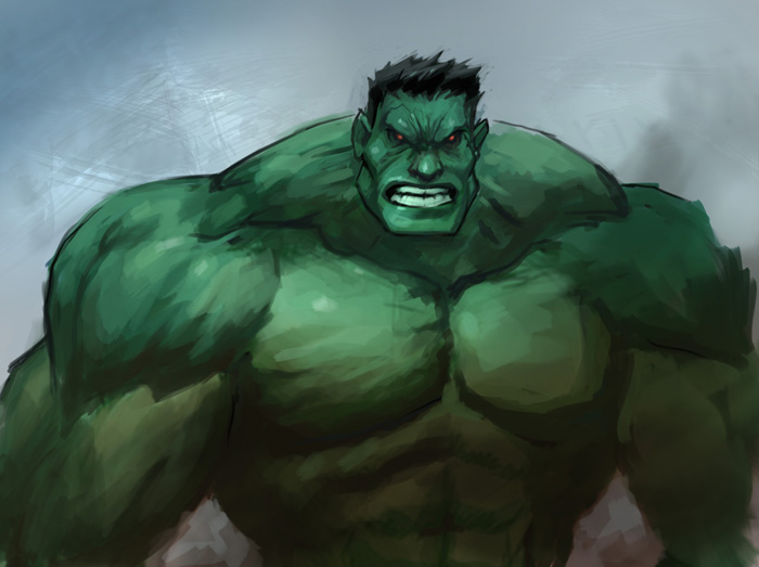 700x523 Digital Painting Tutorial Hulk