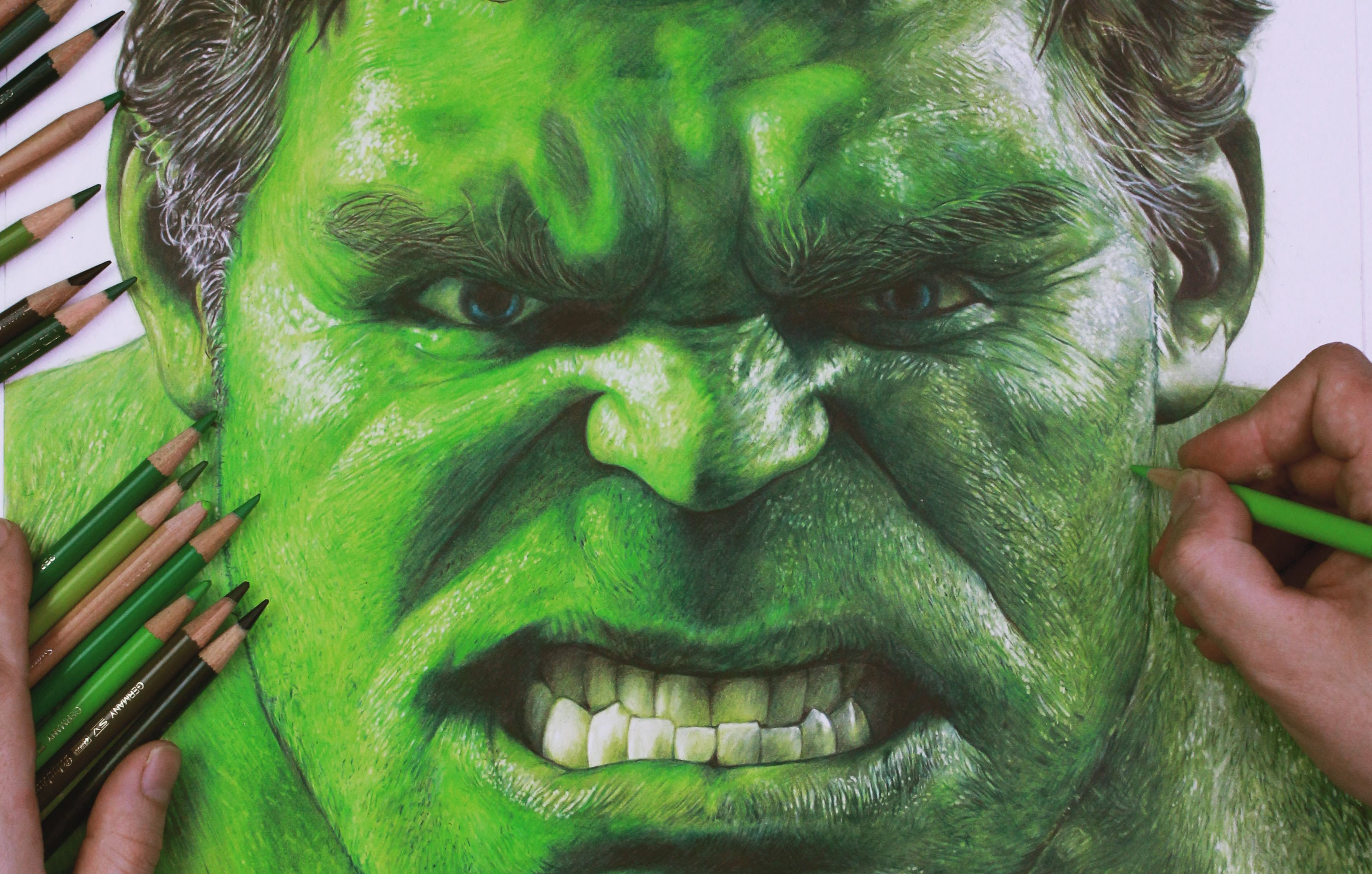 3184x2028 Drawing The Incredible Hulk Timelapse