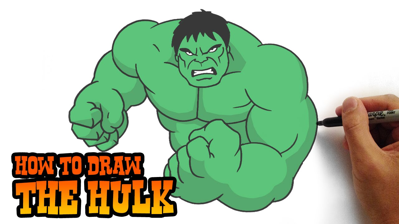 1280x720 How To Draw The Hulk Simple Step By Step Video Lesson