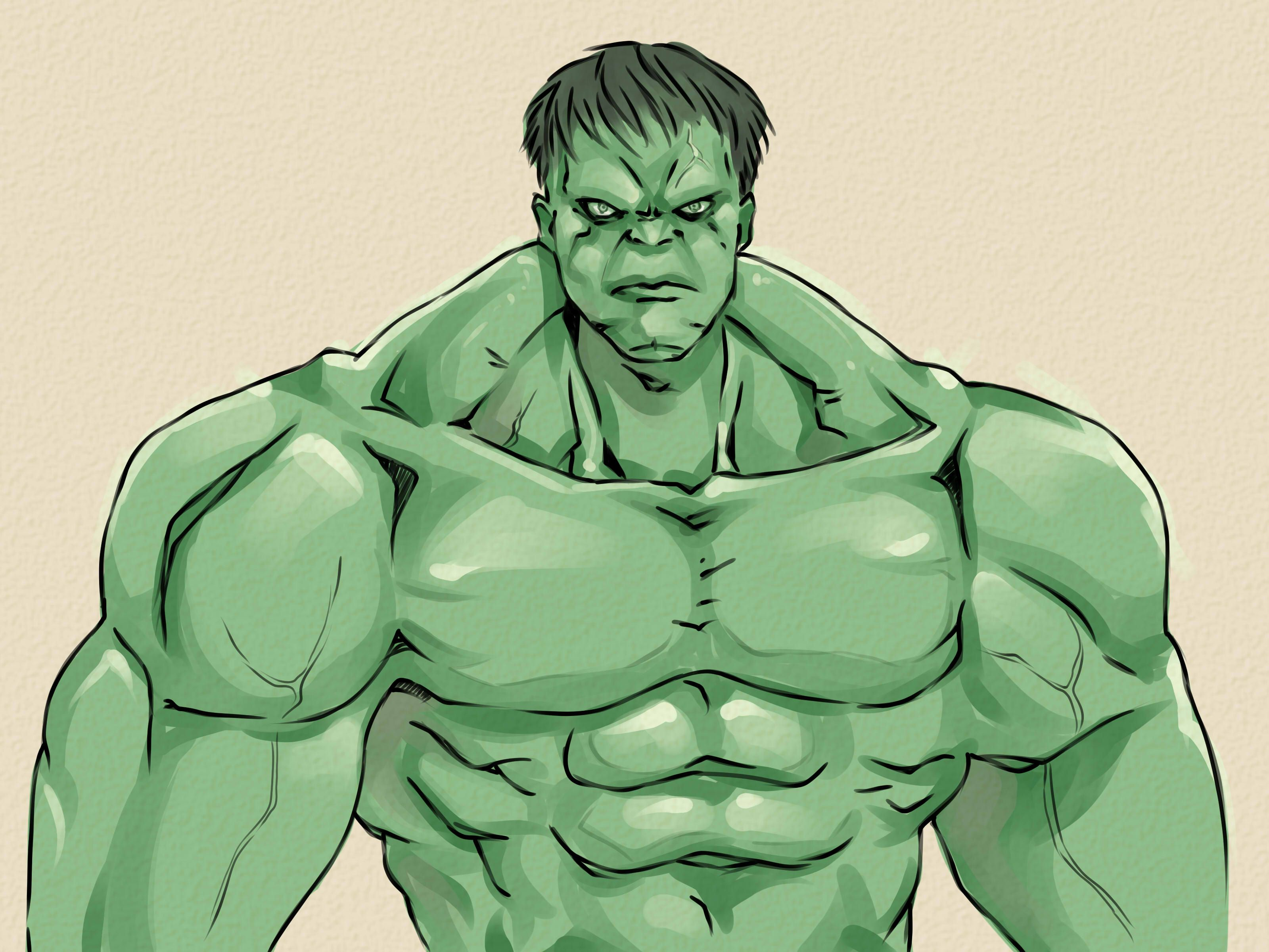 3200x2400 How To Draw The Incredible Hulk