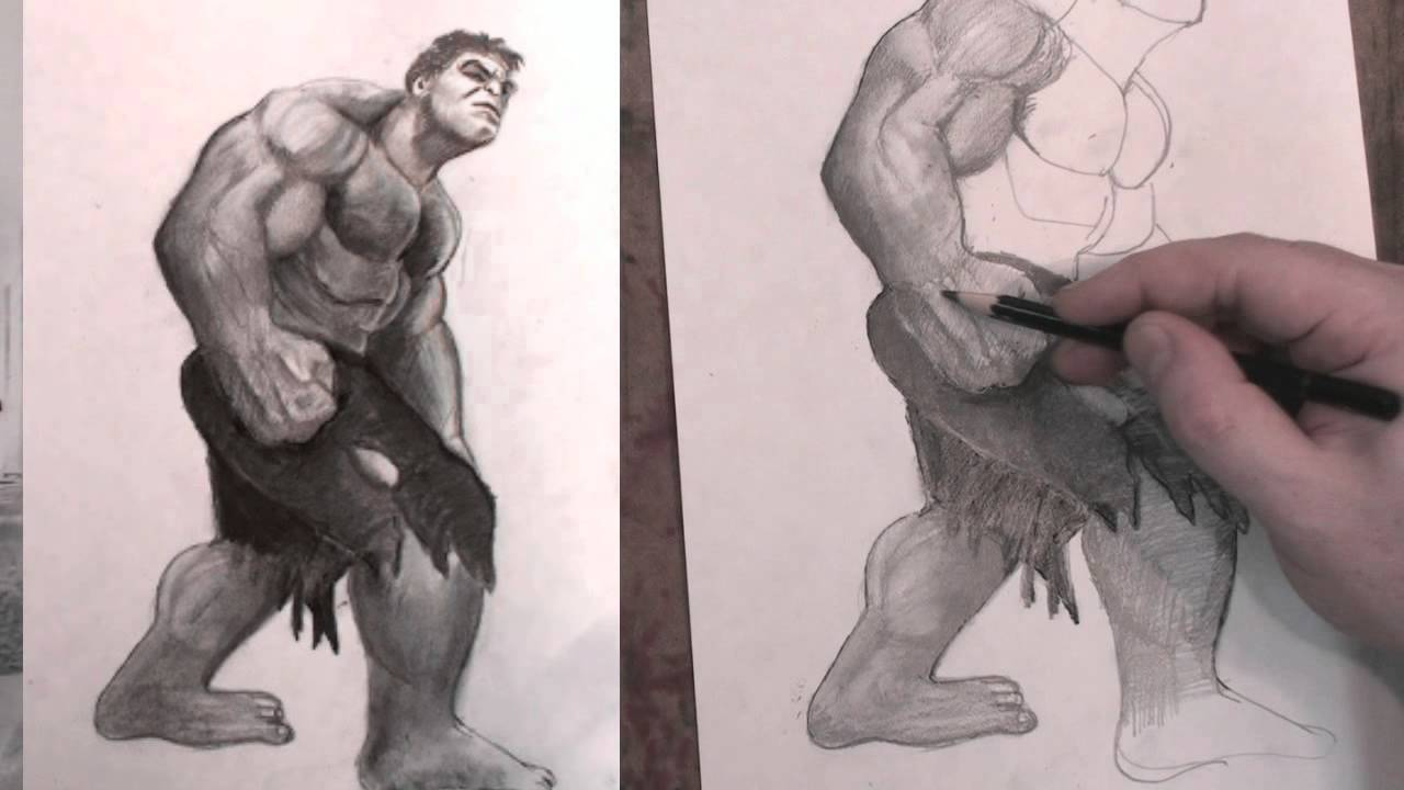 1280x720 How To Draw The Incredible Hulk Avengers Step By Step