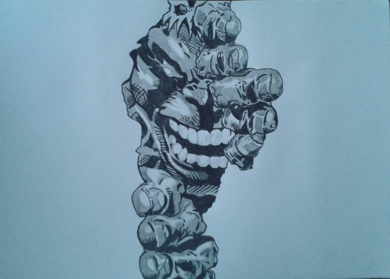 770x552 Saatchi Art Incredible Hulk Drawing By Reflektion Portraits
