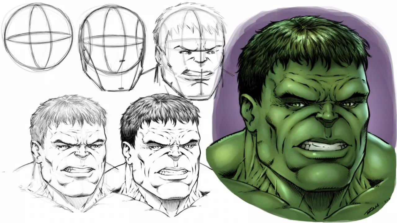 Hulk Face Line Drawing : Incredible hulk face drawing at getdrawings free for