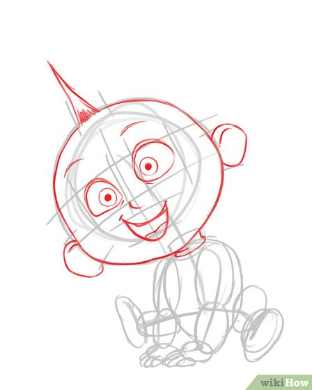 448x560 How To Draw Jack Jack From The Incredibles 6 Steps