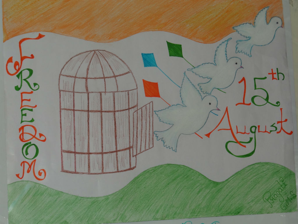 1024x768 Drawing Pictures Independence Day India 15 August 2017