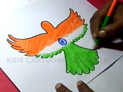 480x360 How To Draw Independence Day Parrot Design Step By Step