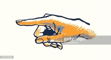 371x200 Vector Drawing Hand With The Index Finger Stock Vectors