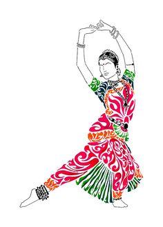 236x329 Pencil Sketch Of A Bharatanatyam Dancer