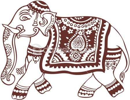 450x348 Indian Domestic Elephant Design Elephantes Drawing