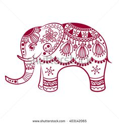 236x246 Indian Elephant Outline