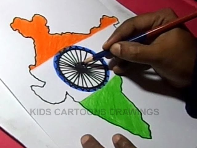 640x480 How To Draw Indian Flag Detailed Color Drawing Step By Step For Kids