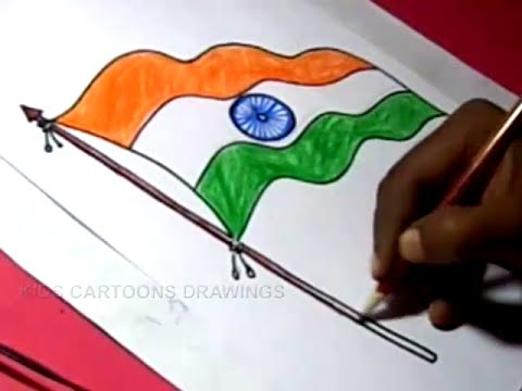 480x360 How To Draw Indian Flag Detailed Drawing Step By Step For Kids
