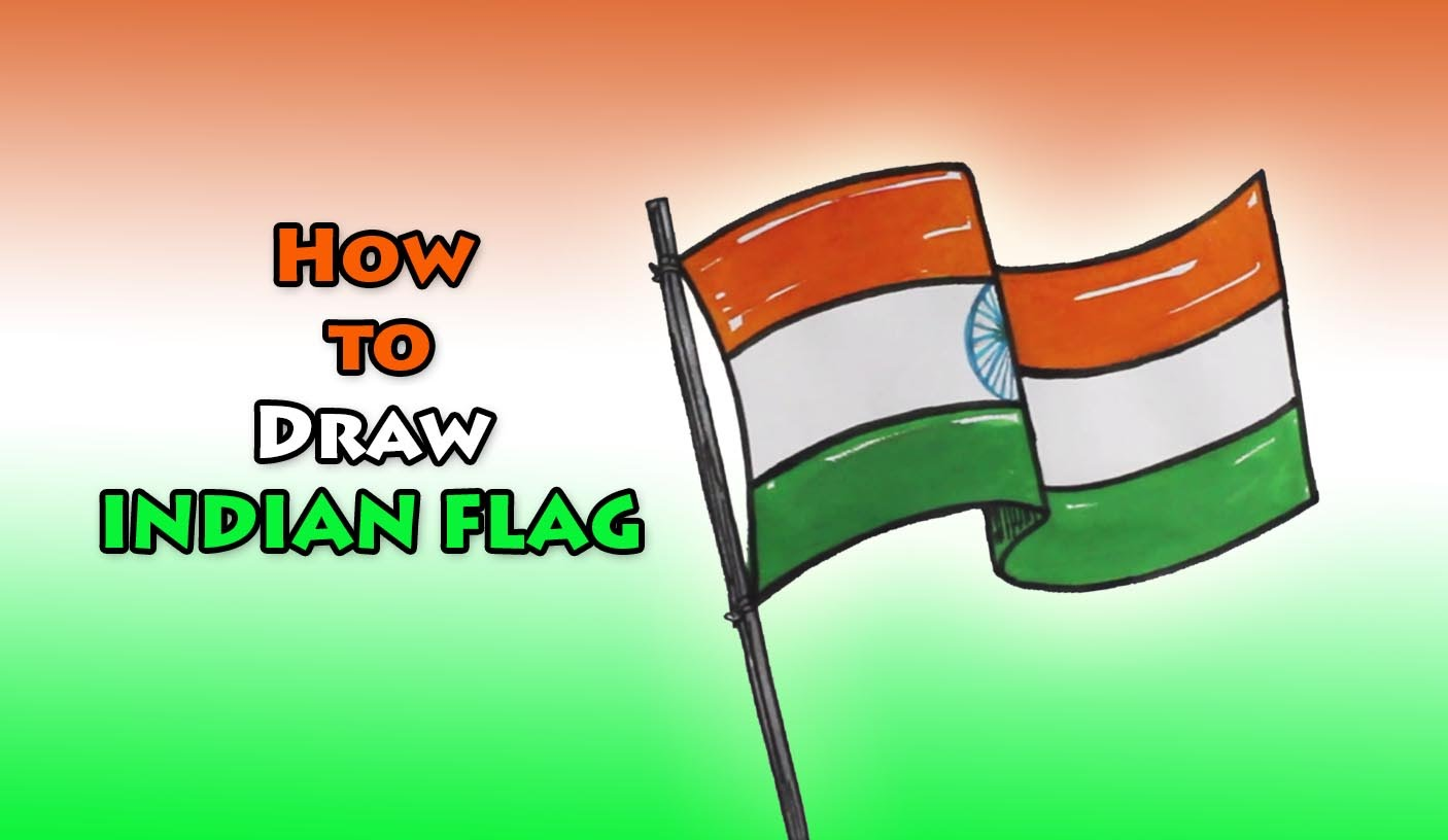 1406x816 How To Draw Indian Flag Drawing Step By Step Drawing For Kids
